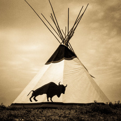 Buffalo Tipi on Plains, Fine Art Photographic Print