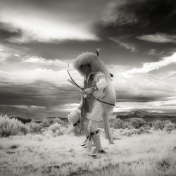 Pueblo Buffalo Dancer #3, Infra-red
