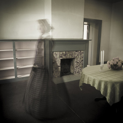 Ghost in Dining Room, Archival Canvas Digital Print