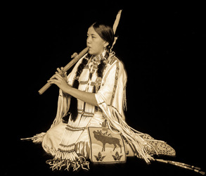 Native Flute Player