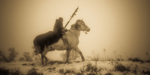 Winter Ride Panorama (sepia)