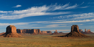 Navajo Landscape- Where Sky Meets Earth (panorama)
