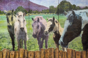 Horse Heaven / 24x36 inch Triptych / $2400