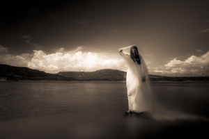 Lady of the Lake (sepia pano)