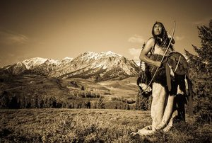 Shaman at Medicine Mountain (sepia)
