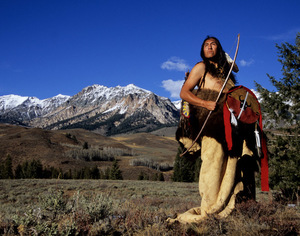 Shaman at Medicine Mountain (color)