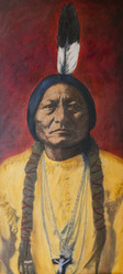 Sitting Bull #2, 16x37 inch Oil, $1800 Sold