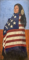Summer & 1804 US Flag / 20x10 inch / Sold