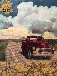 Greetings From Route 66, 30x24 inch, $2200 Sold