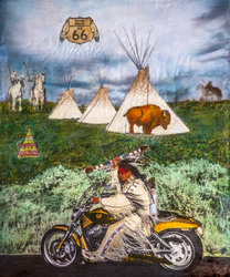 Route 66 Indian Style / 24x20 inch / $1700