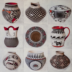 Acoma Pot Collection, 24x24 inch, $1600 Sold