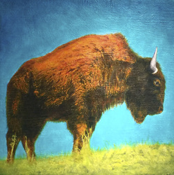 Buffalo Spring Field / 36x36 inch / $3000 Sold