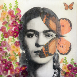 Frida Metamorphosis & Hollyhock
