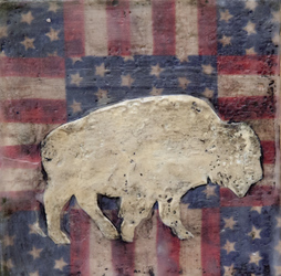 American White Buffalo, 6x6 inch Sold