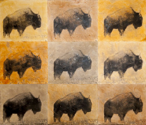 Buffalo Herd, 30x35 inch, $2500 Sold