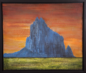 Shiprock: Traveler's Landmark, 20x24 inch framed, $1500 Sold