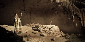 Blessing A Sacred Cave (sepia Pano)