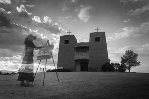 Georgia O'Keeffe Ghost, Nambe Mission NM, Digital Print