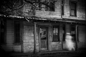 Ghost on Porch in Ghost Town NM, Digital print