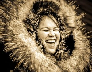 Laughing Inuit Girl