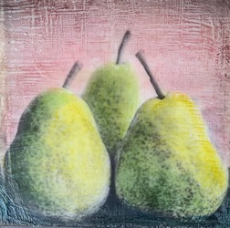 Pear of Three's / 6x6 inch / $100
