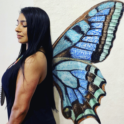 Interactive Art Series / Blue Butterfly Wing / $1800