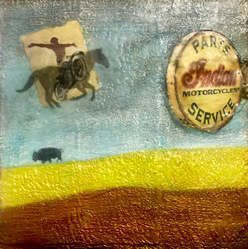 """Indian Parts & Service"" / 12x12 inches / Sold"